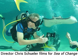 Director Chris Schueler films for Sea of Change